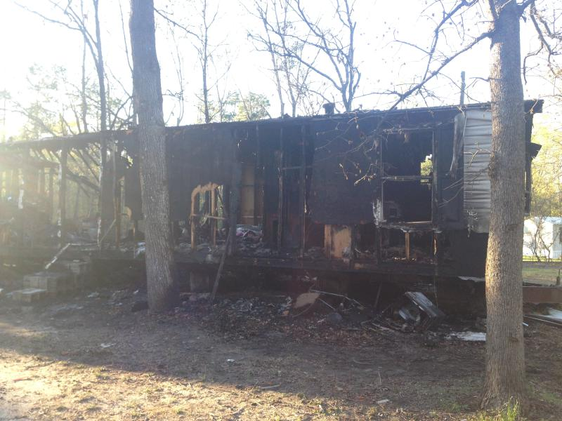 Mobile Home Destroyed By Fire In Aiken (Image 1)_26257