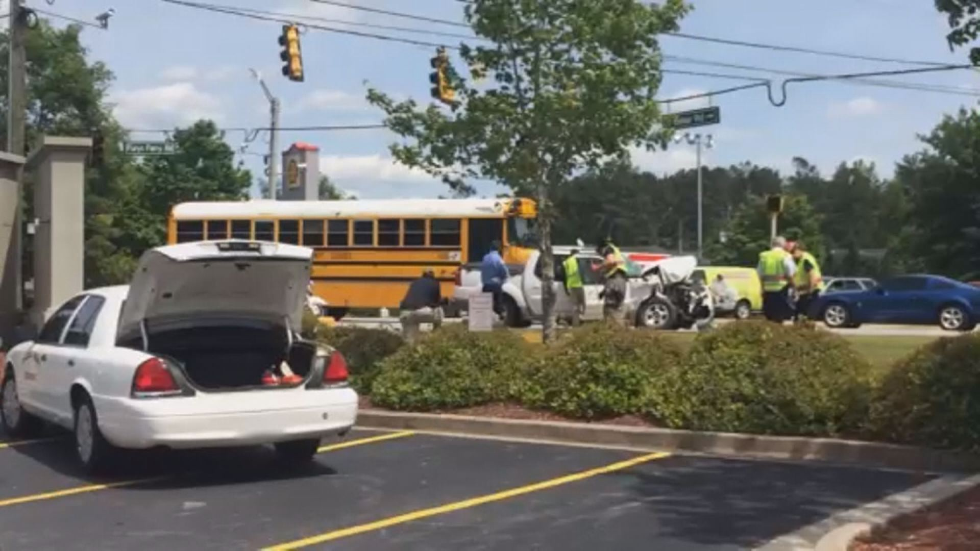 UPDATED ON 6_ School Bus Involved In Crash On Fury's Ferry Road (Image 1)_27293