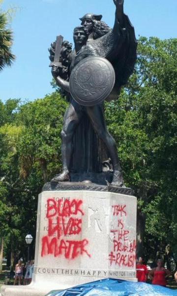 charleston statue vandalized_32232