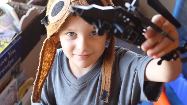 London McCabe shown during his sixth birthday party. London's mother, Jillian McCabe, is accused of throwing him over a Newport, Ore. bridge Nov. 3, 2014. (YouTube)