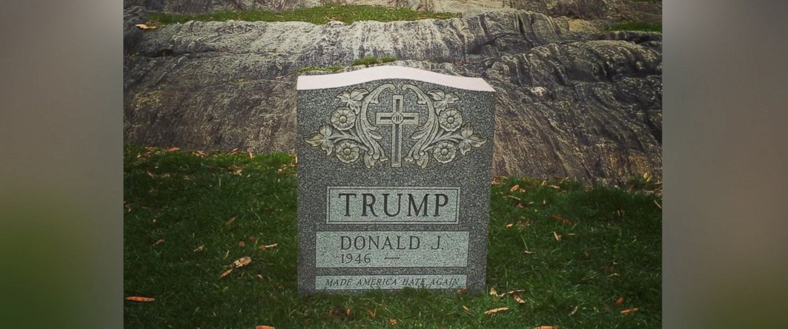 Donald Trump tombstone found, removed from Central Park_132417