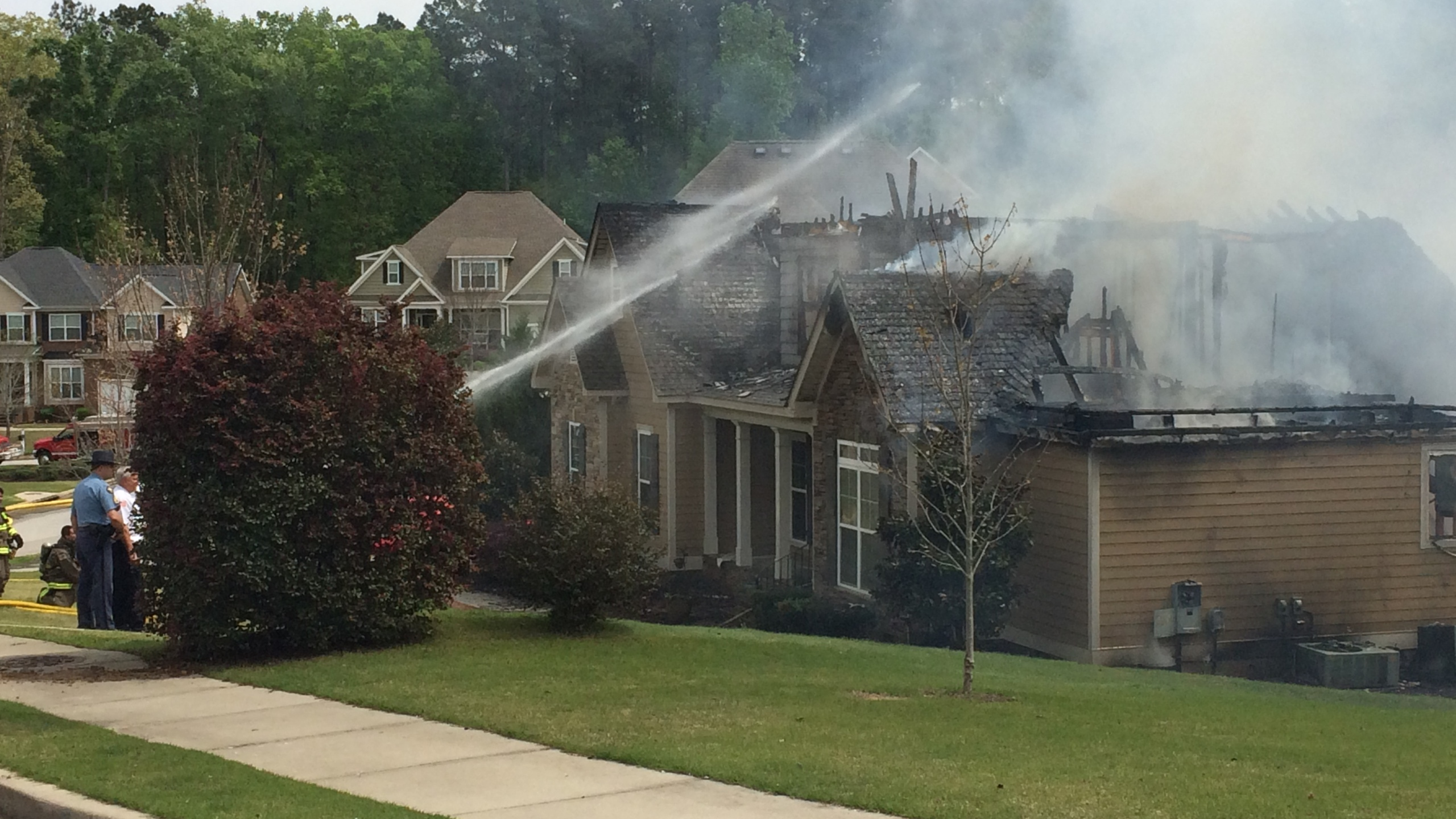 Serious fire at home on Sumter Landing Lane in Evans - 4_6_16_135168