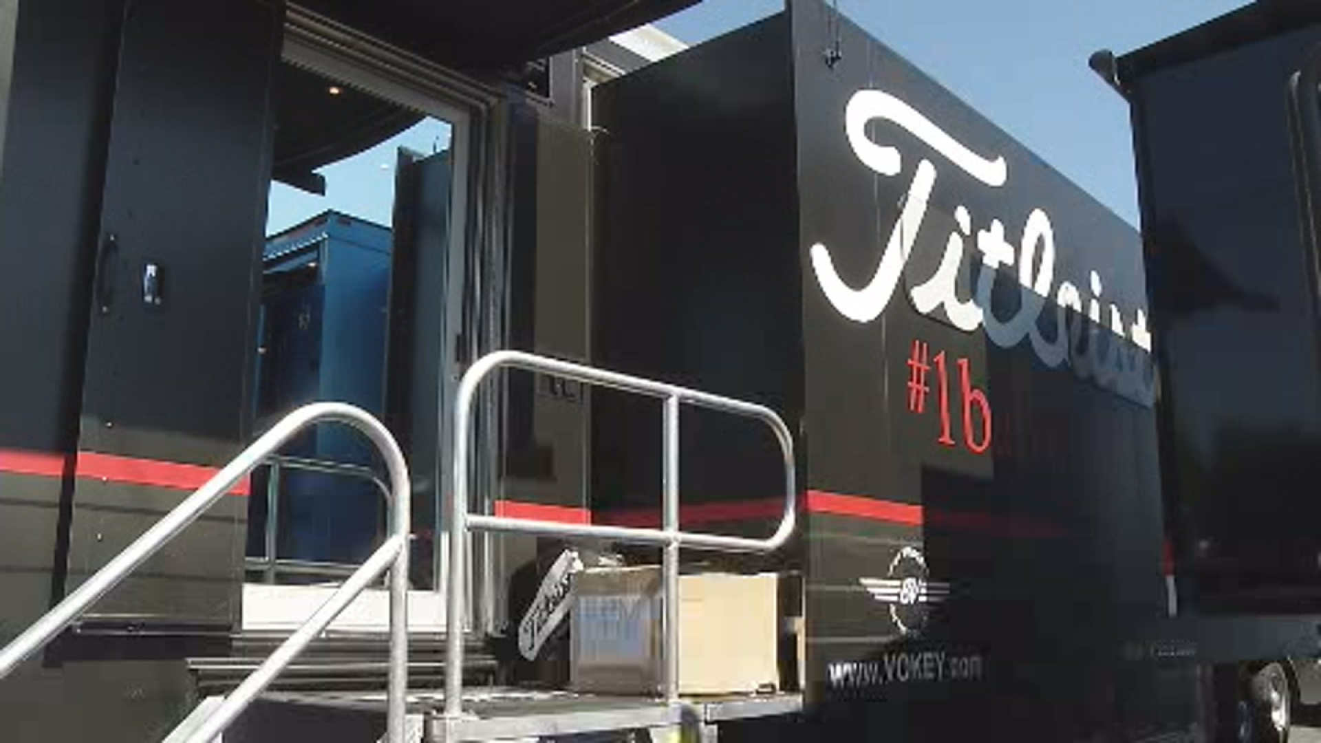 Titleist tour van serves as a portable proshop for players to get their clubs adjusted before the tournament._134879