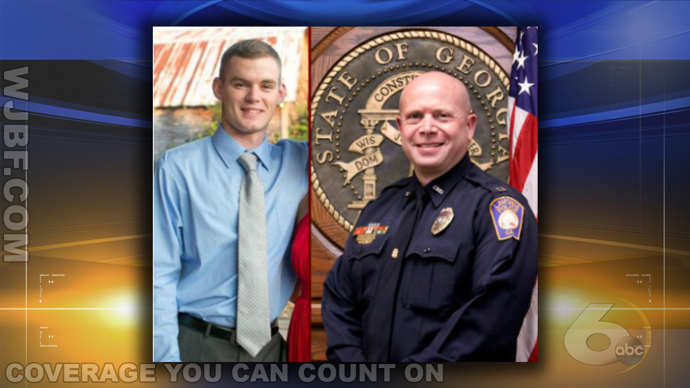 Jefferey Martin, left, and Michael Schulman, right, were wounded after a suspect opened fire during a traffic stop, the police chief said. (Courtesy: Lavonia Police Dept.)