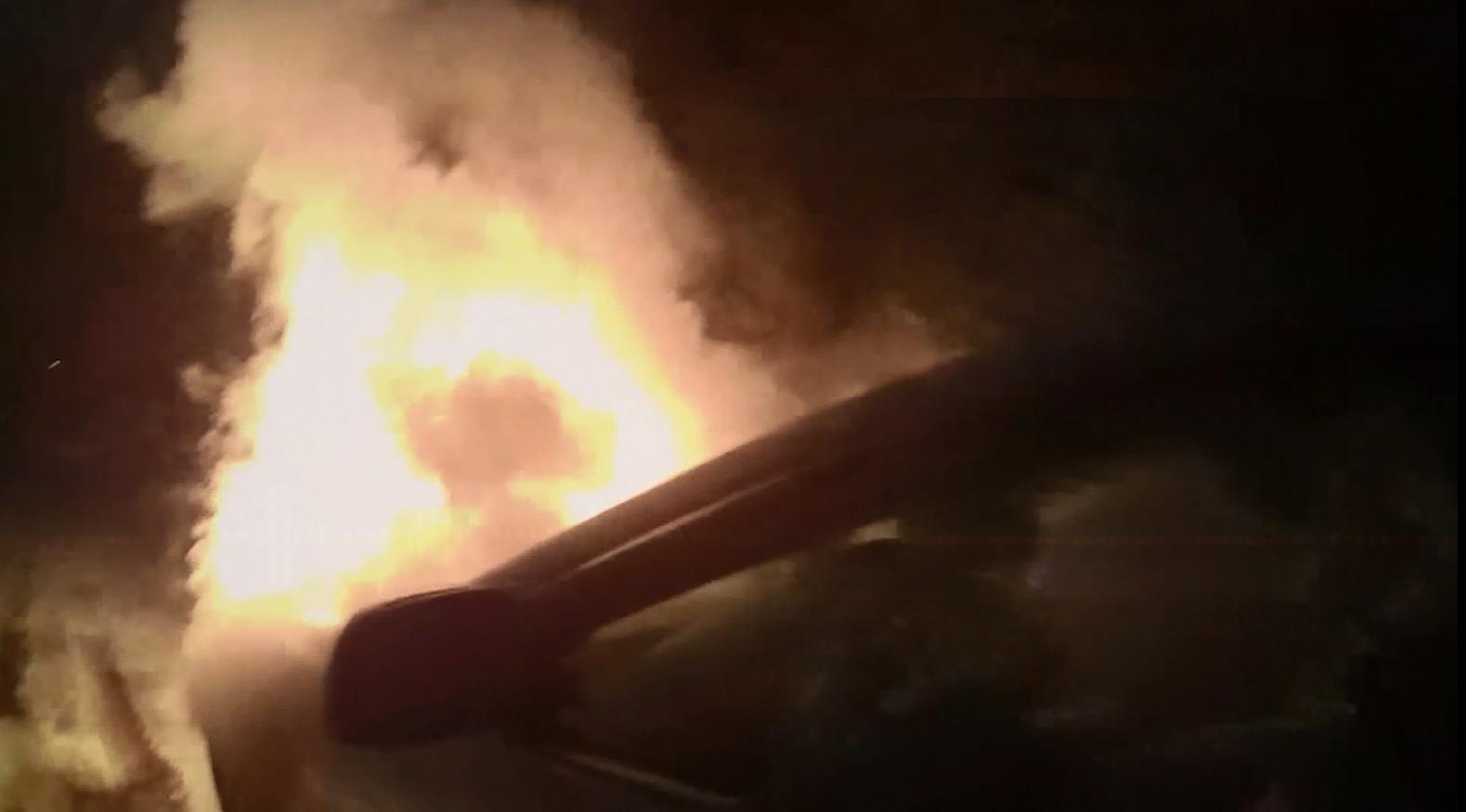 Car on fire in Spokane, Washington_225828