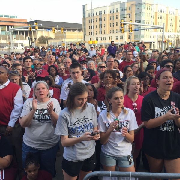 South Carolina fans hold pep rally in Columbia ahead of Sweet 16 - March 21, 2017_238935