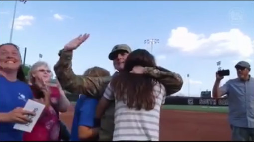 SFC Lisa Charnock of Aiken is reunited with family members_253577