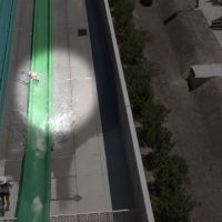 Child flies off of slide at California water park_267347