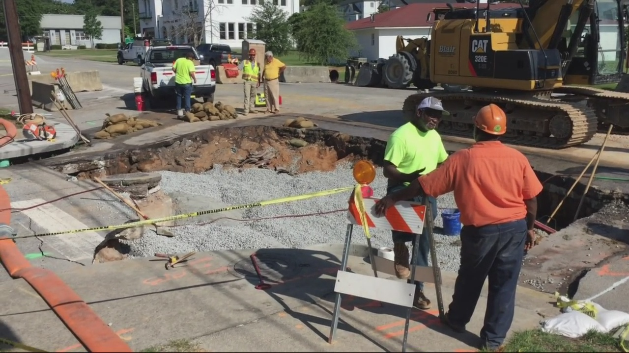 Fixing a hole, Central Avenue should be open by Monday