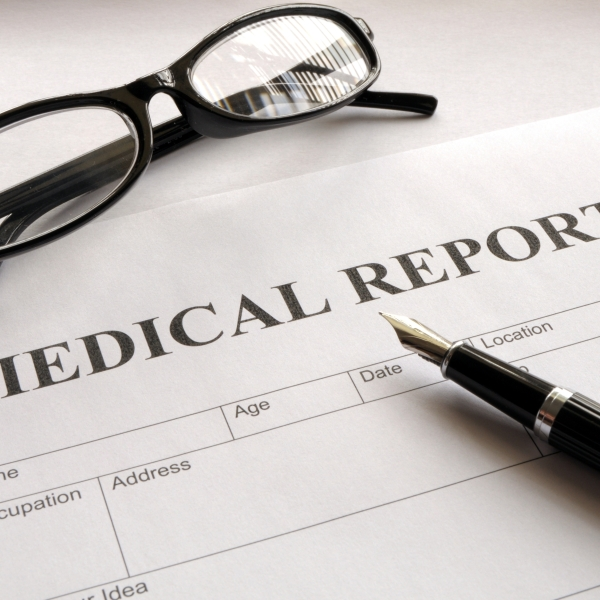 medical report form in doctors hospital office showing health concept_271914
