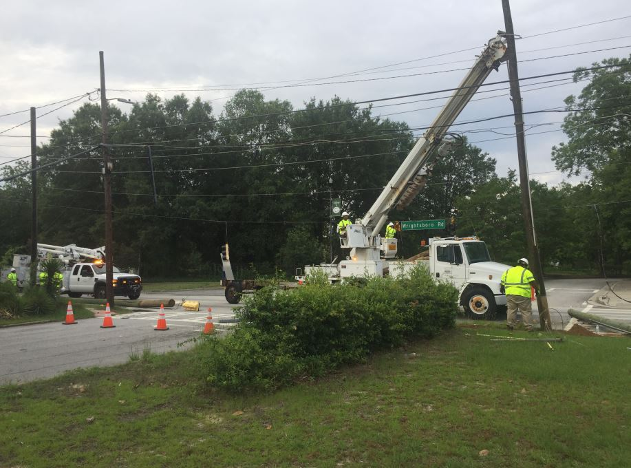 Powerlines down on wrightsboro rd_271462