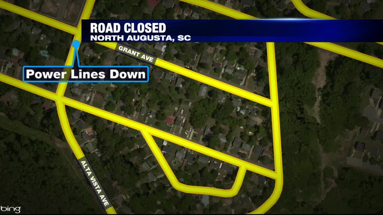 Road blocks North Augusta_313124