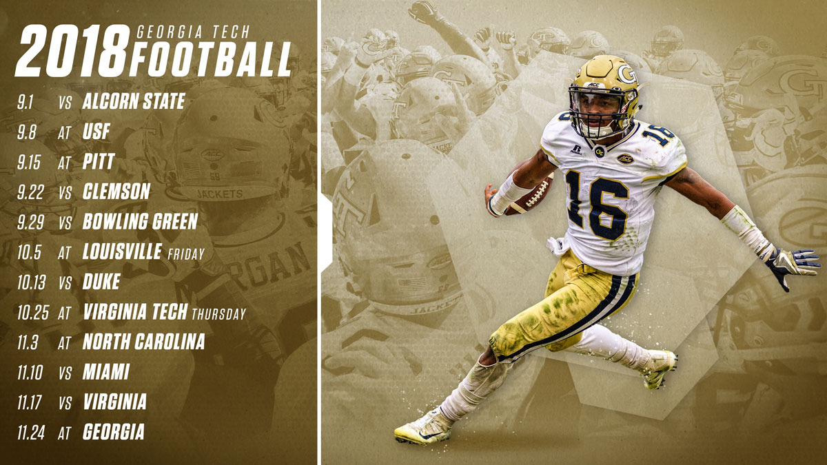 Georgia Tech S 2018 Schedule Unveiled