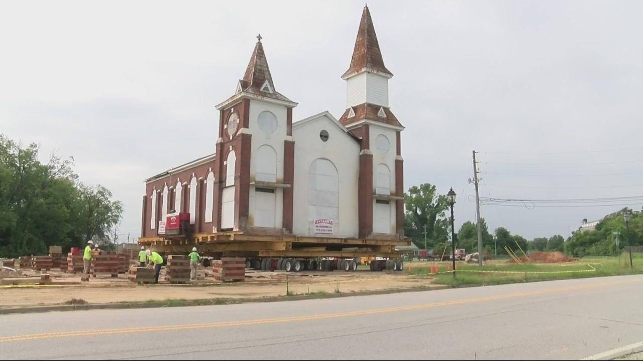 Trinity CME Church moves 100 yards