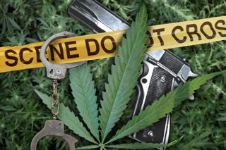 Drugs Marijuana Handcuffs_35336