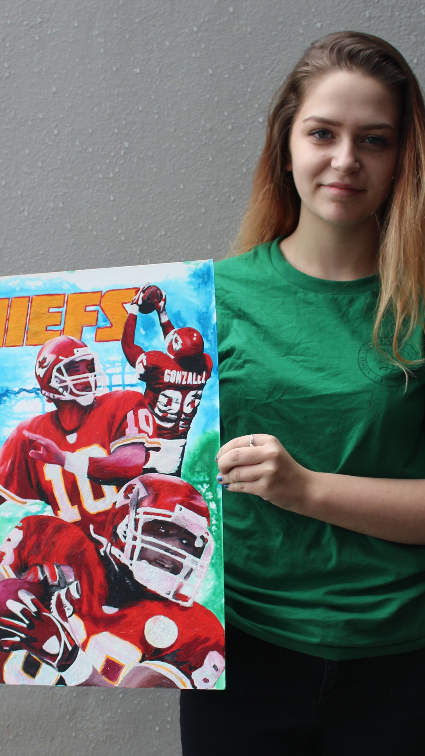 Emma Kelley also provided a piece for the Kansas City Chiefs football team_1548874661868.jpg.jpg