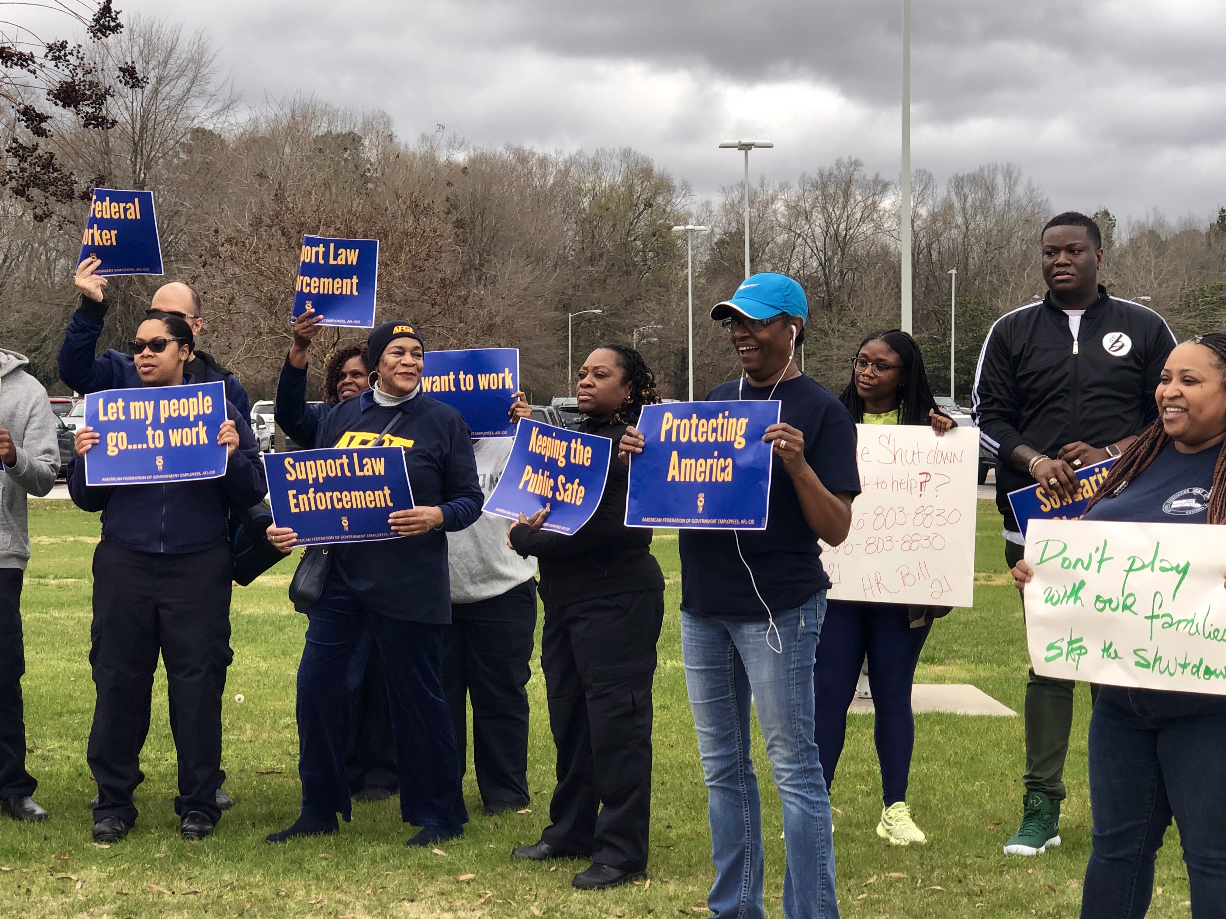 Federal employees sound off at a government shutdown rally