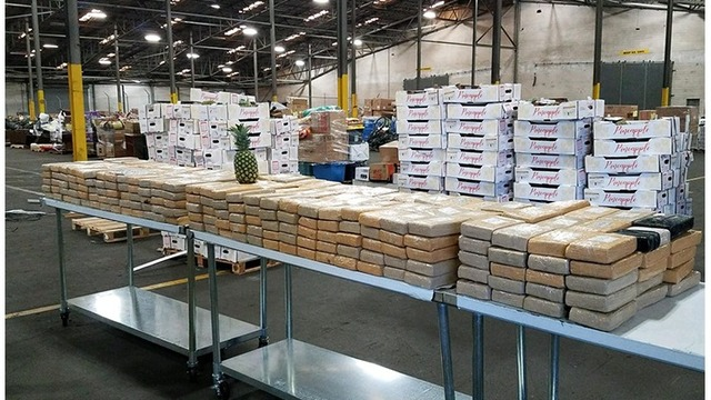 Cocaine seized in pineapples at 2 Georgia ports