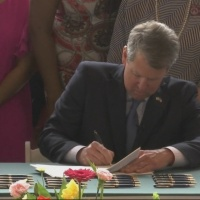 Georgia Governor signs 10 healthcare bills at cancer center