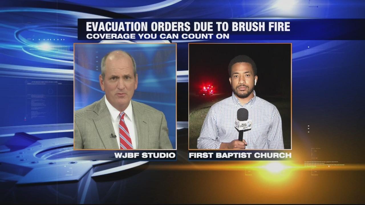 Aiken residents allowed to return home after brush fire