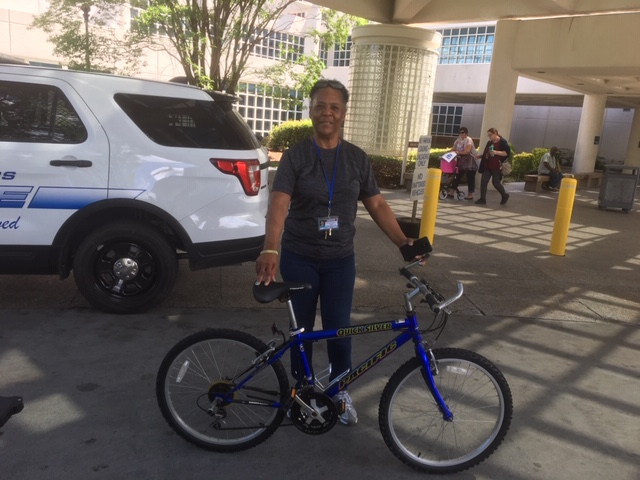 Eunice Grant is one of many veterans participating in the bike program.