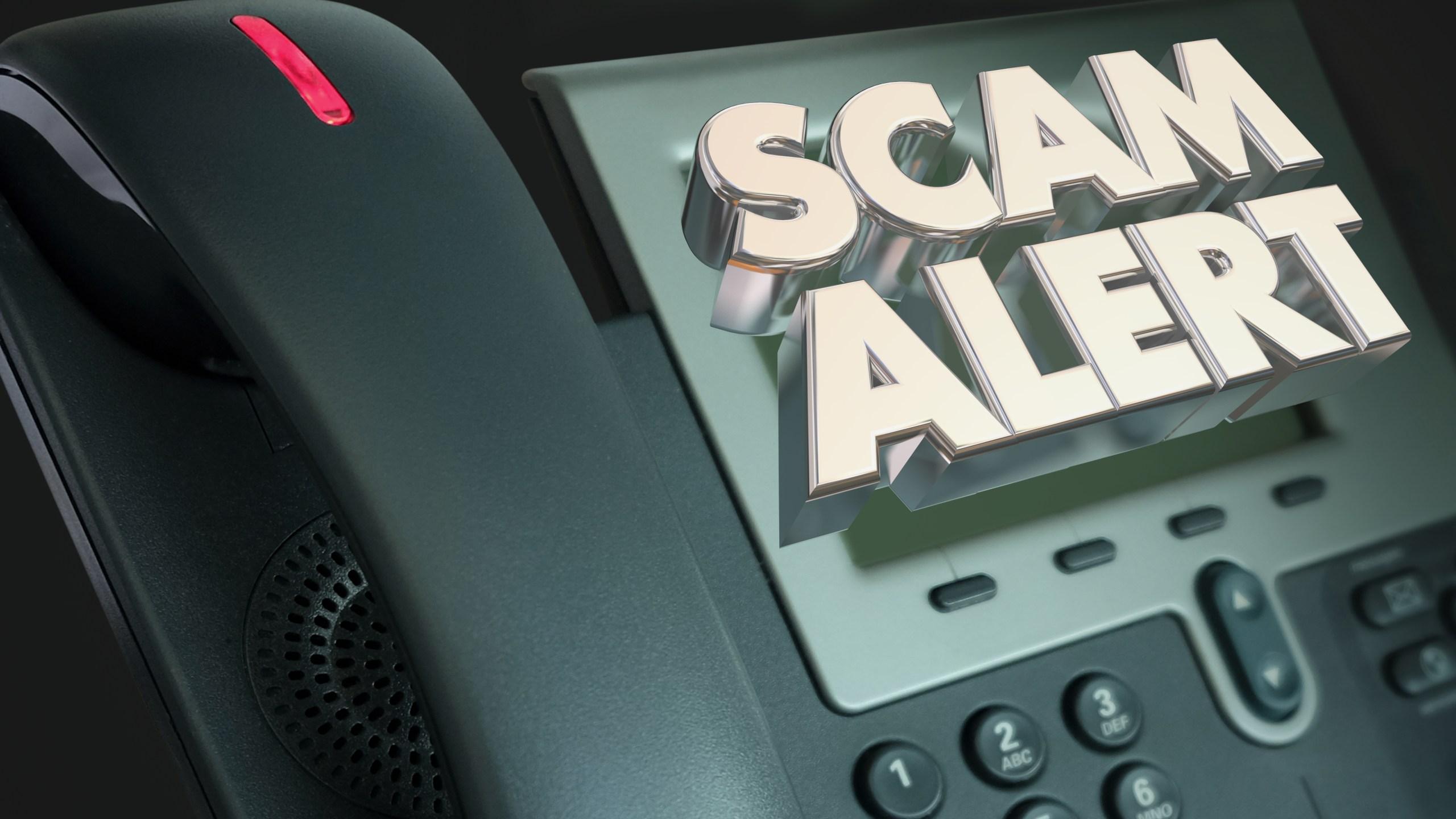 Scam Alert Telephone Fraud Crime 3d Illustration_1557330111225