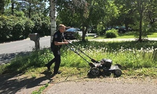 Minnesota officer mowing elderly woman's lawn_1560109104375.jpg_91445448_ver1.0_640_360_1560112608437.jpg.jpg
