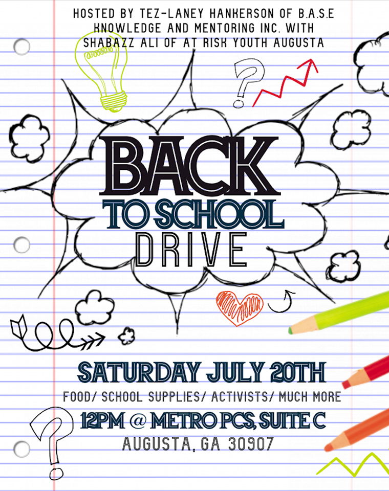 Back to school supply drive happening on Saturday in Augusta