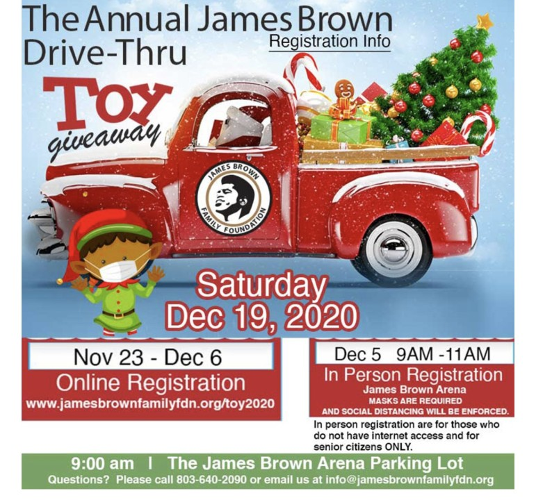 2021 Annual Christmas Toy Giveaway Covinton Ga The Annual James Brown Toy Giveaway Is Coming Up Registration Now Underway Wjbf